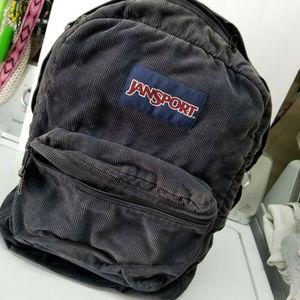 Jansport blue corduroy backpack